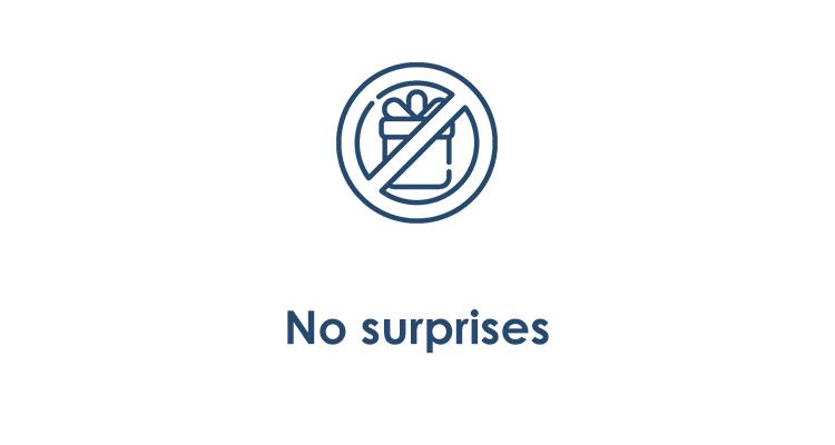 Benefit 2 - No surprises